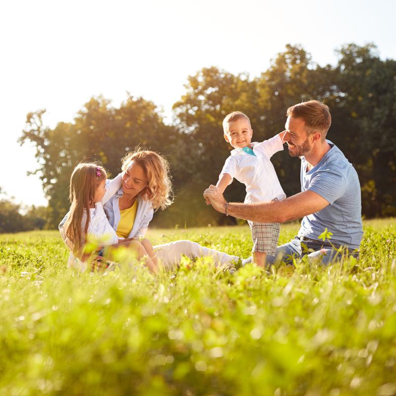 Photo of a happy family
