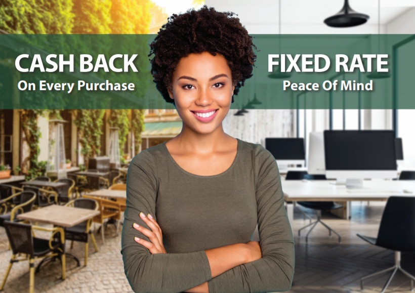 Cash back on every purchase -- fixed rate peace of mind