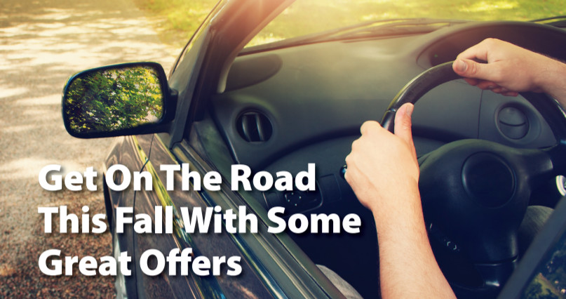 Get on the road this fall with some great offers