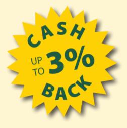 Up to 3% Cash Back